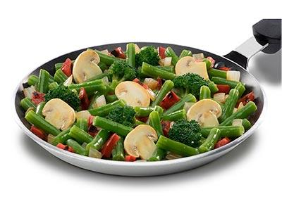 Los valores nutricionales en las verduras congeladas