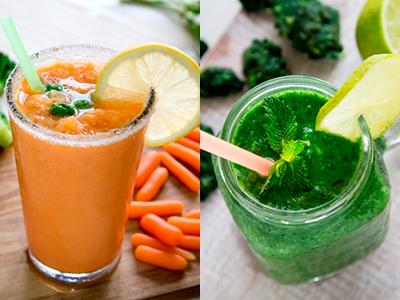 Granizado de verduras congeladas, una alternativa saludable y refrescante, fácil de hacer en casa