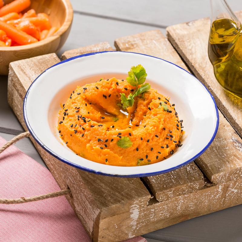 Hummus de Zanahoria con pan de pita