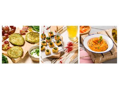 Comer verduras de forma diferente, original, vistosa y con los dedos