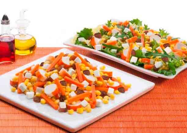 Ensalada de maíz y queso fresco